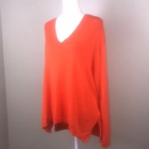MICHAEL KORS V-Neck Lightweight Sweater Orange